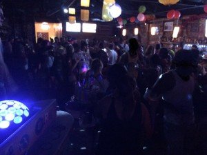 Party goers in one of Bocas' bars open late into the morning